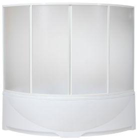 Шторка на ванну BAS Дрова (вотер) 160х160