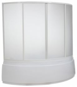 Шторка на ванну BAS Лагуна (вотер) 170х110