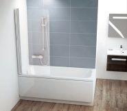 Шторка на ванну Ravak CVS1-80х150 R/L блестящий+транспарент
