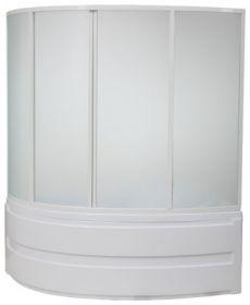 Шторка на ванну BAS Сагра (грейп) 160х100